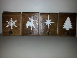 set 4 rustic christmas stocking hanger reclaimed barn