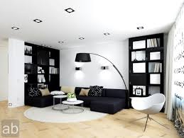 interior black and white modern living room ideas with dark