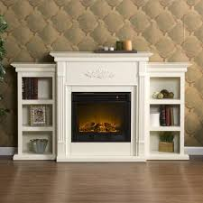interior white solid wood fireplace which combined with light