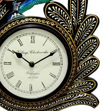 clock buy buy single peacock analogue wall clock online in india craftkriti
