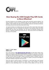 purchase play gift card how buying rs 1500 play gift cards is more effective by