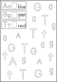 free worksheets color by alphabet worksheets free math