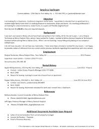 Current Resume Samples by How To Create The Perfect Rental Resume