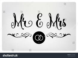Mr And Mrs Wedding Signs Mr Mrs Mister Missis Wedding Sign Stock Vector 425523268