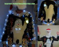 ugly christmas sweater lights up abominable snowman