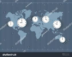 Time Zones World Map by Vector Vintage World Map Time Zones Stock Vector 107260661