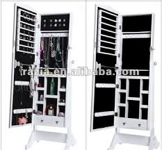 standing mirror jewelry cabinet 2018 white color standing furniture mirror jewellery cabinet e009