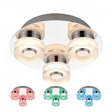 Changing Ceiling Light 3 Light Colour Changing Rgb Led Ceiling Light