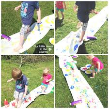 feet painting or printing outdoor messy summer fun for kids