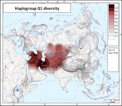 Haplogroup World Map by Map Of Haplotype Diversity Of Haplogroup G1