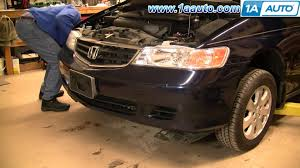 honda accord bumper replacement cost how to install remove replace front bumper cover honda odyssey 99