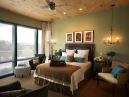 bedroom with teal accent wall wall mounted triple dark brown