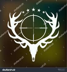 antlers crosshair theme vector stock vector