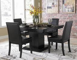 Modern Black Dining Room Sets | modern black dining room sets trend with image of modern black