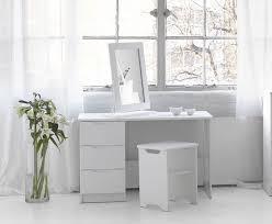 Glass Vanity Table Corner Makeup Vanity Table