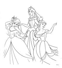 disney princess belle coloring pages within disney princesses