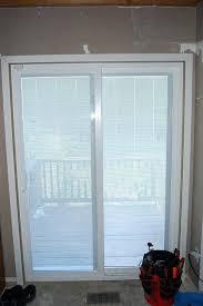 Curtains For Sliding Doors Ideas Winsome Sliding Door With Blinds Photos Walmart Ideas Patio