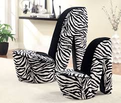 zebra accent chairs in short wooden legs without arm over