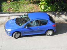 blue peugeot file peugeot 206 top view jpg wikimedia commons