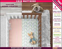 Custom Crib Mattress Crib Mattress Photoshop Fabric Mockup Ct M Mattress