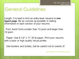 best paper to print resume on preparing an effective resume napa valley college career center 5 general guidelines