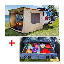 Rear Awning Adventure Kings 2 5 X 2 5m Awning Tent Titan Rear Drawer With