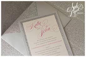 silver wedding invitations s wedding invitation suite april designs