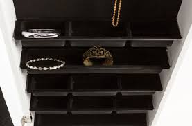 Jewelry Cabinets Wall Mounted by Organize With Organizers Jewelry Armoire Wall Mount With Mirror
