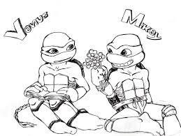 teenage mutant ninja turtles coloring pages michelangelo gekimoe
