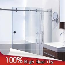 Shower Sliding Door Hardware High Quality 1set Stainless Steel Frameless Sliding Shower Doors