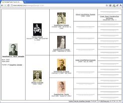 blank family group sheet pedigree chart blank family tree