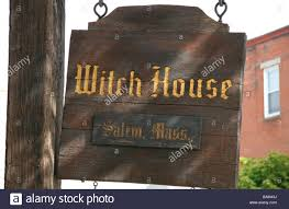 House Plate Hanging Name Plate At The Entrance To The Witch House In Salem