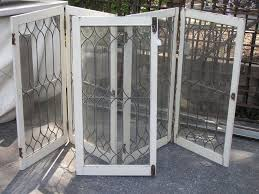kitchen antique leaded glass cabinet with doors vintage leaded
