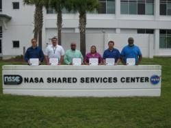 nasa enterprise service desk arcata nssc team members receive recognition at nasa honor awards