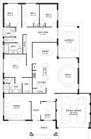 House Floor Plans Ranch by Simple 4 Bedroom House Plan