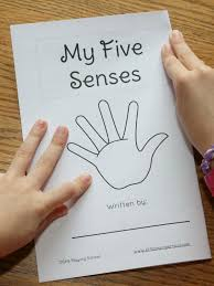 my five senses book for kids still playing