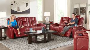 red living room set kingvale red 3 pc reclining living room living room sets red