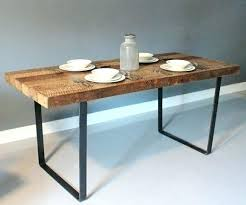 rustic metal and wood dining table reclaimed wood dining table metal legs luisreguero com