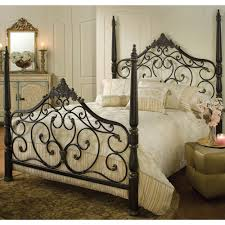 bedroom wrought iron bed frames with rustic and modern style