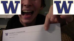 alexis uw acceptance letter opening youtube
