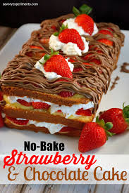 no bake strawberry chocolate cake savory experiments