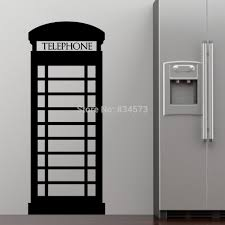 high quality london wall mural buy cheap london wall mural lots large london telephone box wall sticker decal diy home decoration wall mural removable bedroom sticker 57x154cm