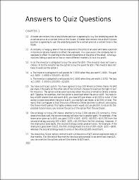 answers to quiz questions from john c hull book answers to quiz