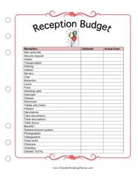 wedding receptions on a budget 7 best images of printable wedding planning worksheets printable