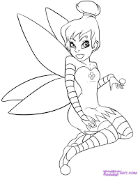 tinkerbell cartoons draw gothic tinkerbell step 8