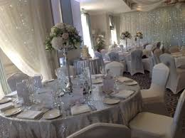 silver chair covers wedding by design