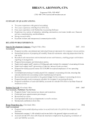 career summary statement exles accounting software big four accounting resume sle camelotarticles com