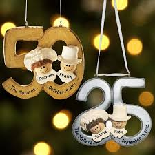 25th wedding anniversary christmas ornament 50th wedding anniversary table ideas personalized milestone