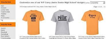 high school senior apparel h f carey junior senior high school apparel store home