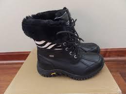 ugg zebra boots sale dynamic womens winter boots ugg black zebra leather adirondack